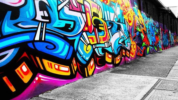 Athah Designs graffiti-pedia-colours-art- Wall Poster